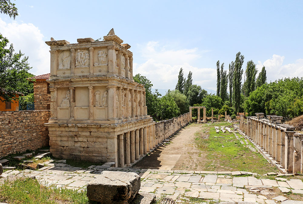 Le Sébastéion à Aphrodisias.