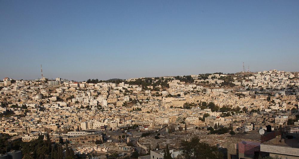 Vue générale de la Vieille ville d'Hébron.