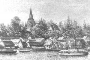 Dessin de Phnom-Penh réalisé en 1887.