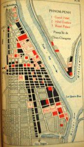 Plan de Phnom Penh en 1930.