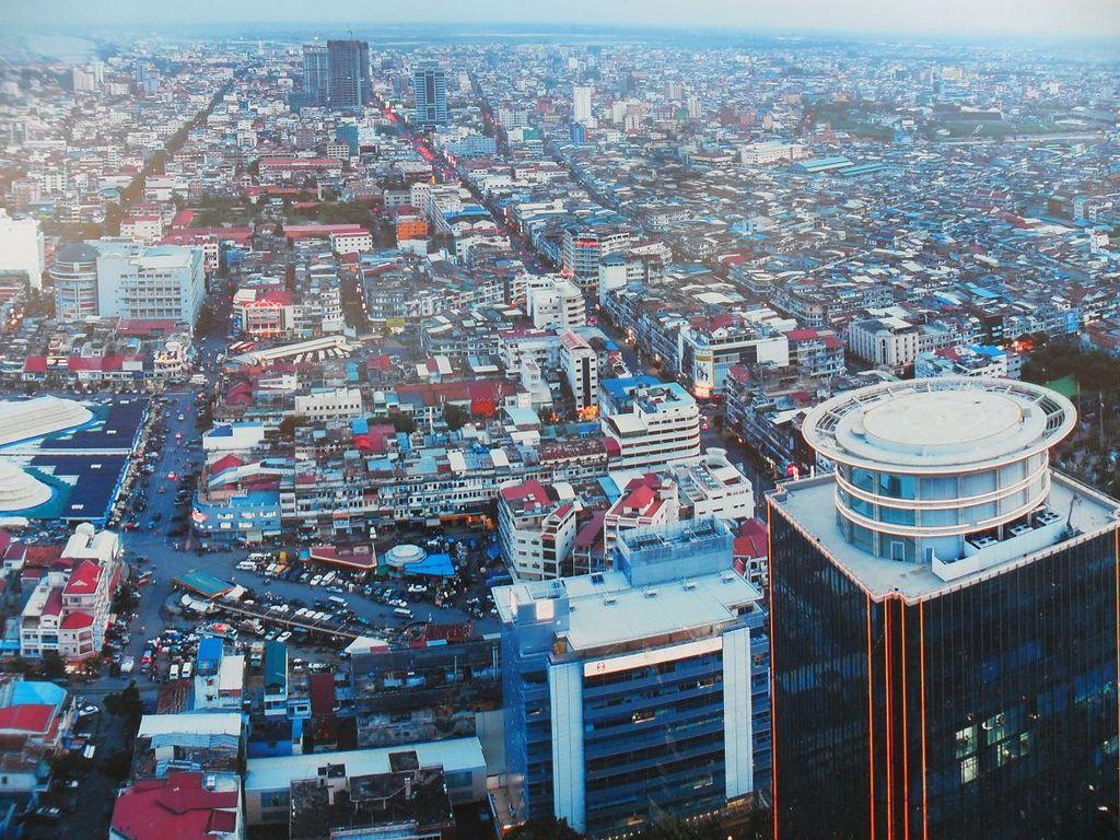 Vue aérienne de Phnom Penh
