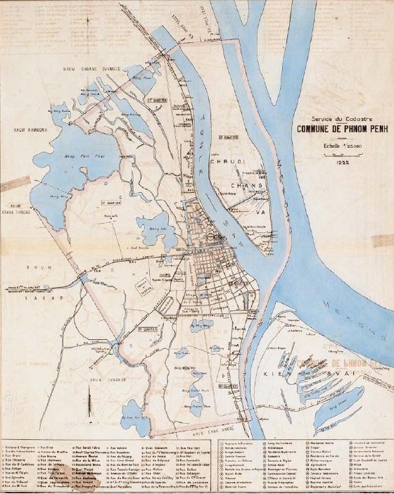 Carte de la commune de Phnom Penh en 1922.