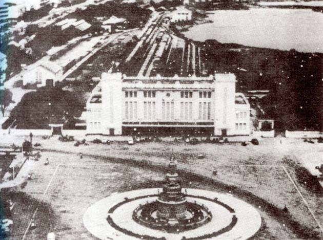 La gare de Phnom Penh construite en 1932 dans un style art déco.