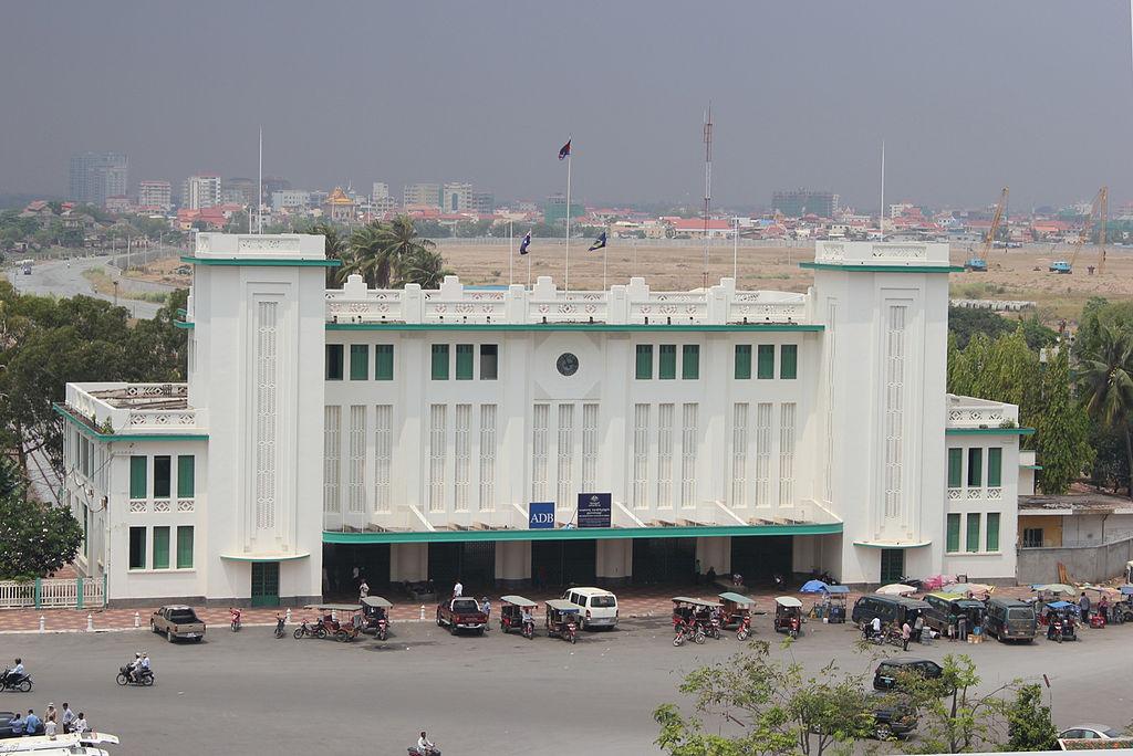 La gare de Phnom Penh en 2012.