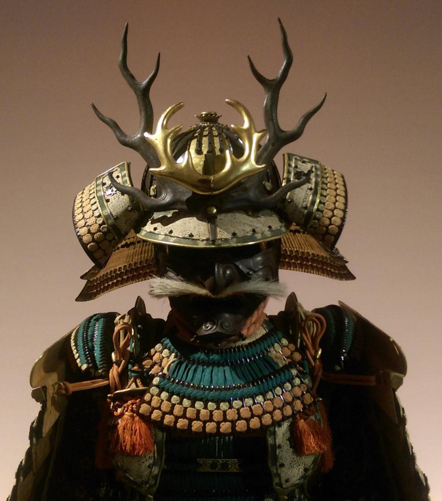 Une armure de l'exposition Daimyo au musée Guimet