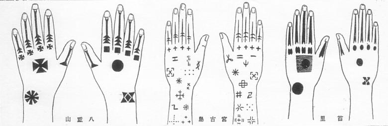 Différents tatouages hajichi.